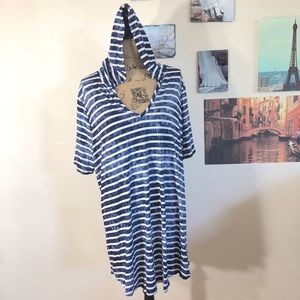 Saint Tropez West tie dye striped beach coverup 2X